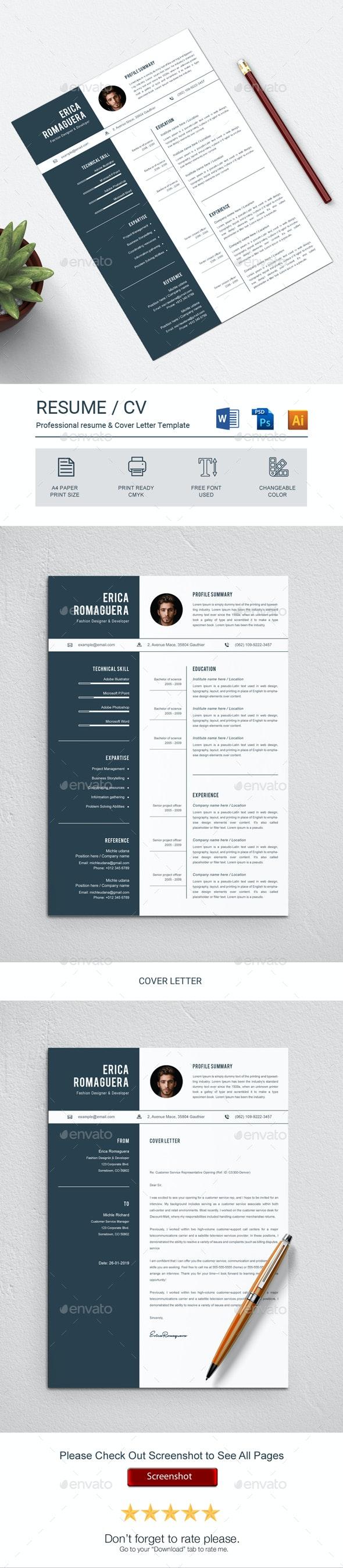 Elegant Resume - Resumes Stationery