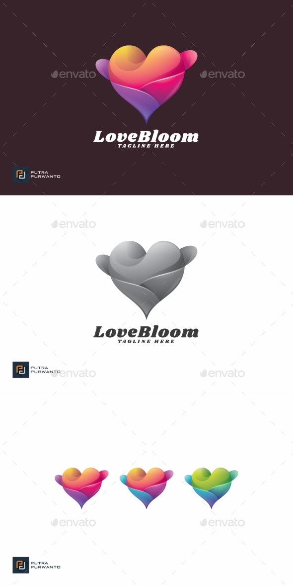 Love Bloom - Logo Template - Abstract Logo Templates