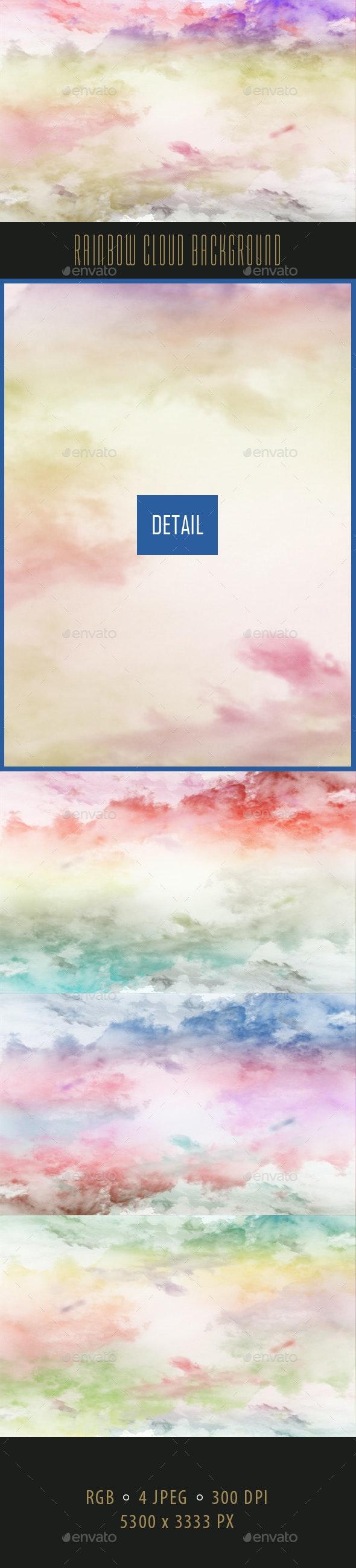 Rainbow Cloud Background - Backgrounds Graphics
