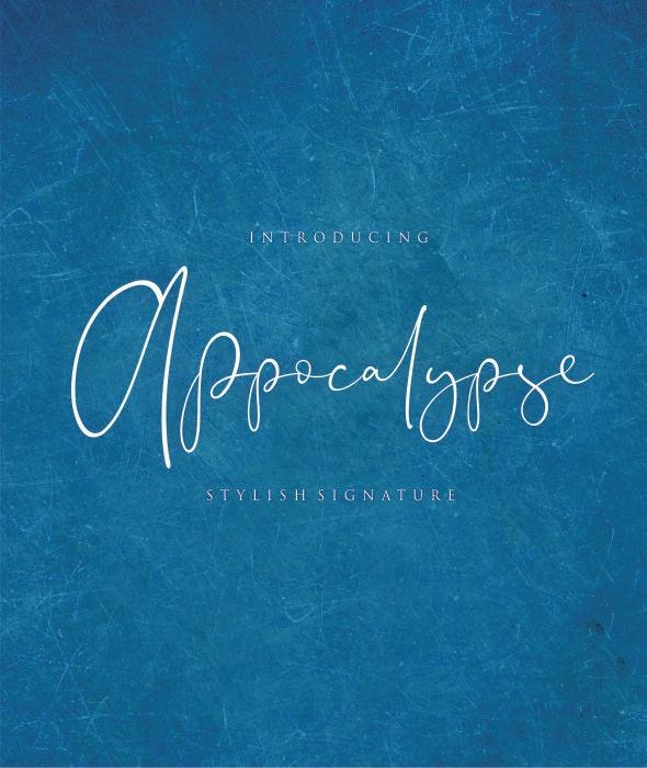 Appocalypse  Signature - Hand-writing Script