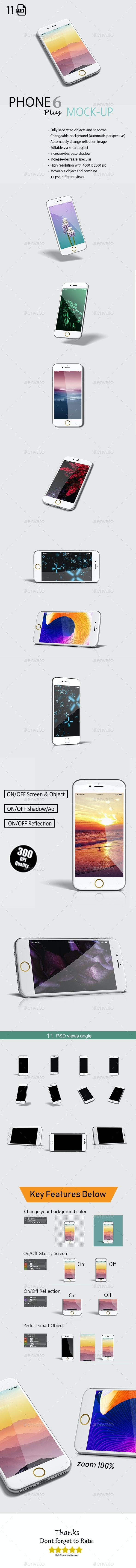 Phone 6 Plus App Mock-Up - Mobile Displays