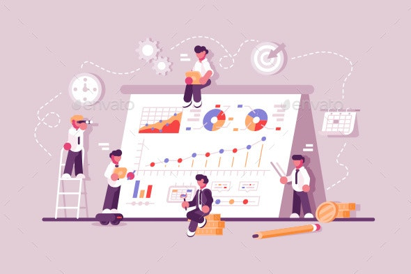 People Working at Productivity Graph - Concepts Business