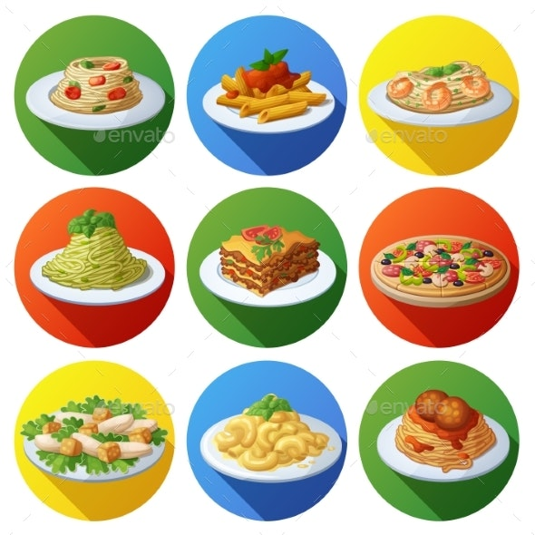 Set of Food Icons - Food Objects