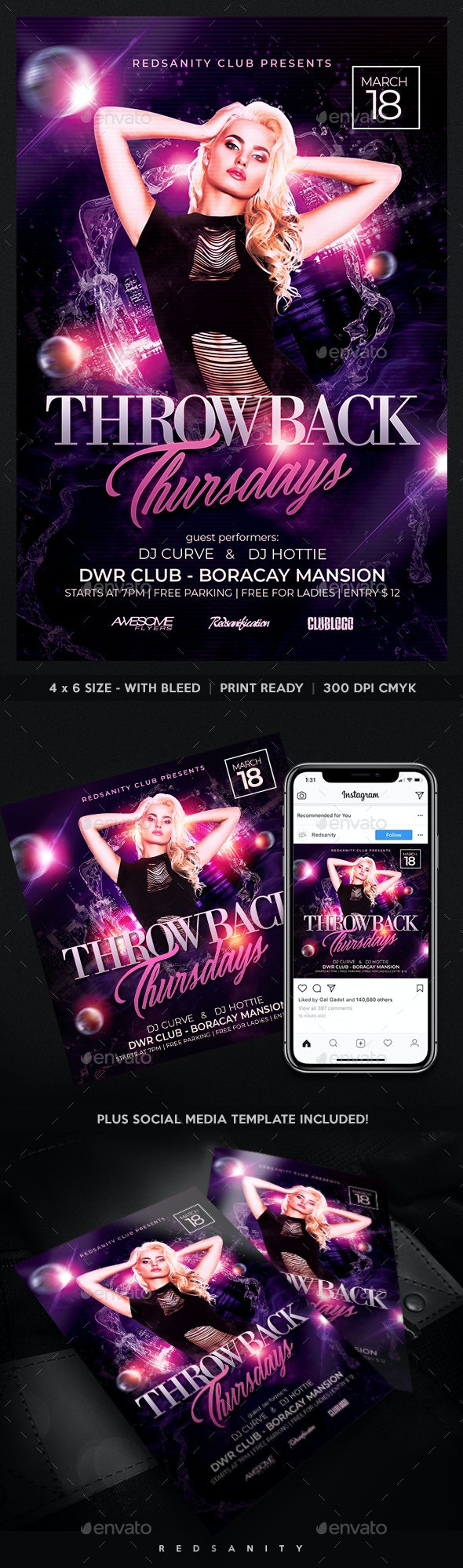 Throwback Thursday Party Flyer - Clubs & Parties Events
