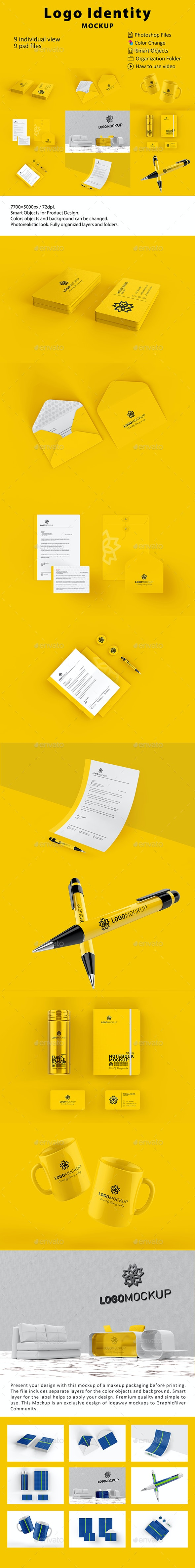 Stationery / İdentity Logo Mockup - Food and Drink Packaging