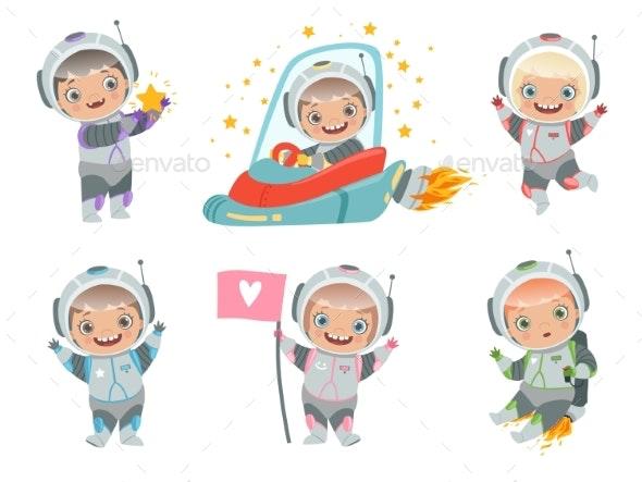 Kids Astronauts.  - People Characters