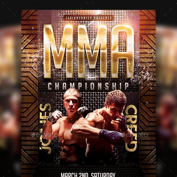MMA Championship Flyer
