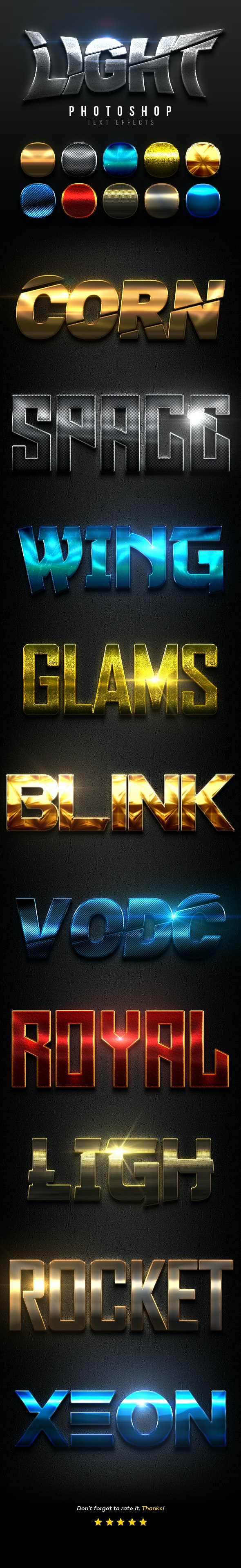Light Text Effects Vol.5 - Text Effects Actions