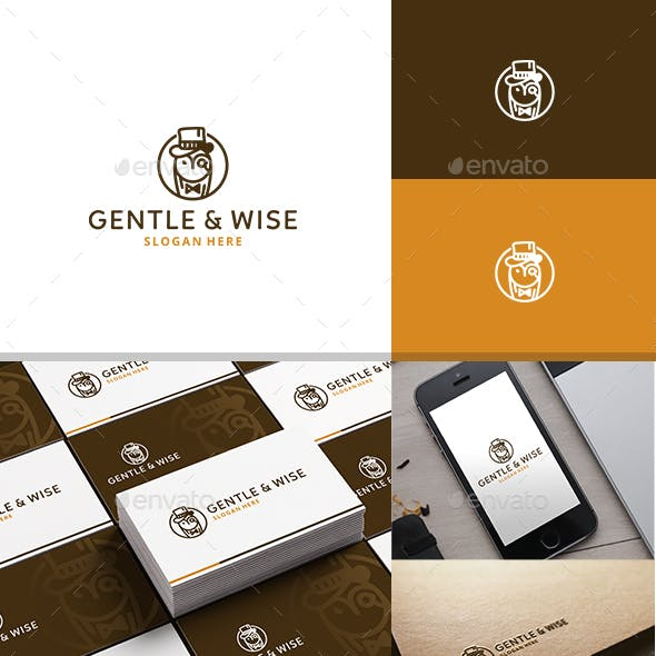 Gentle and Wise Logo Template