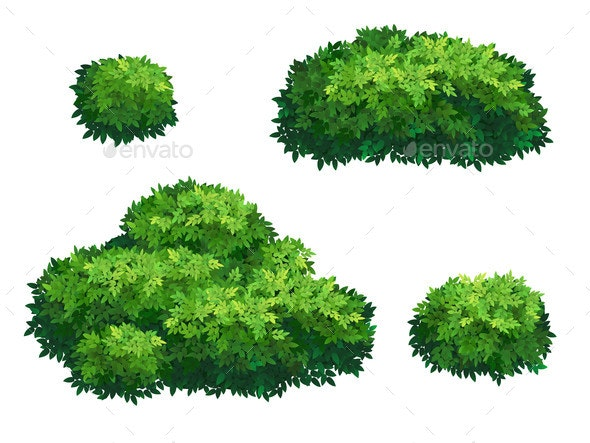Green Bushes and Tree Crown - Flowers & Plants Nature