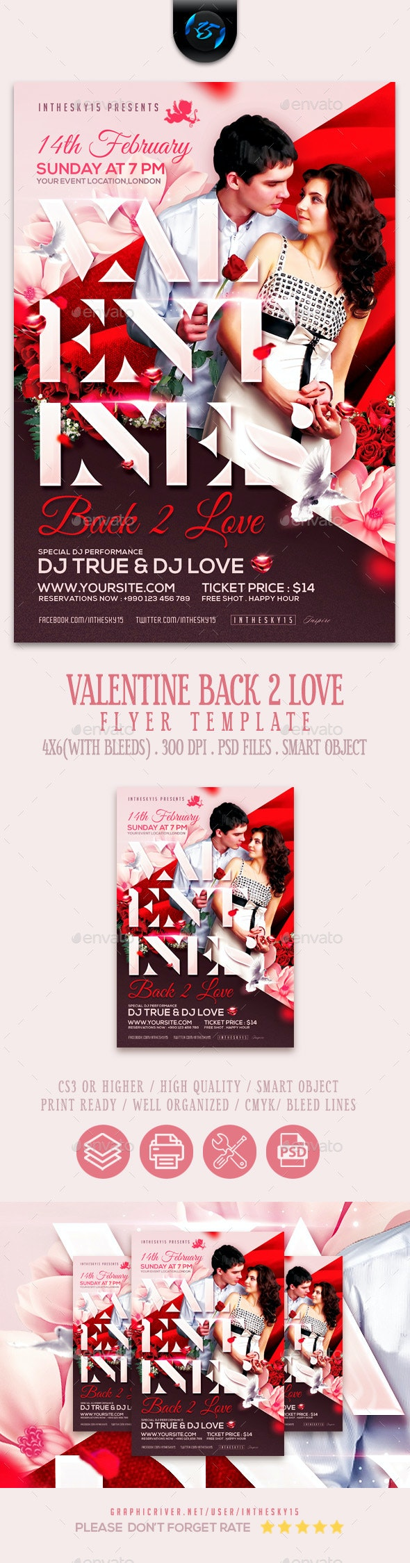 Valentines Flyer Template - Flyers Print Templates