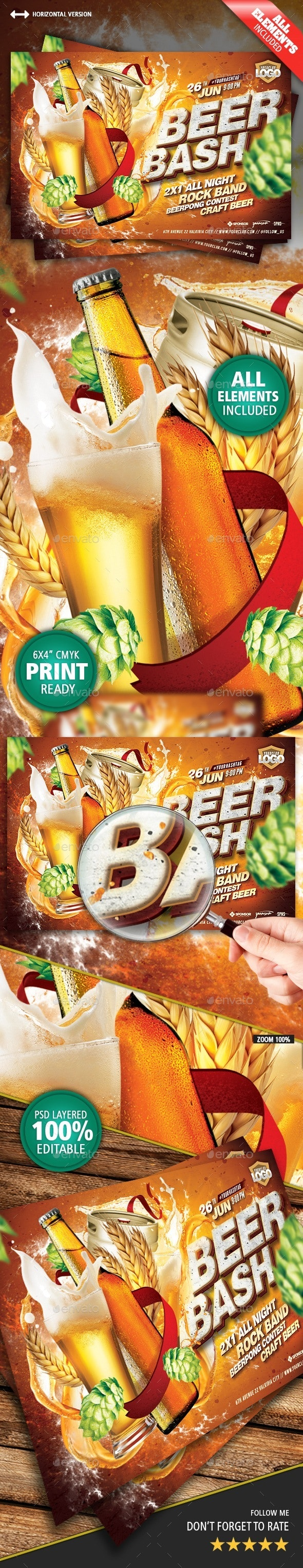 Beer Bash Flyer - Clubs & Parties Events