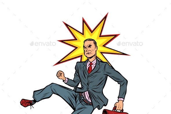 Businessman Hit on the Head - People Characters