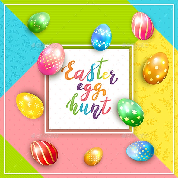 Card on Colorful Background with Lettering - Miscellaneous Seasons/Holidays