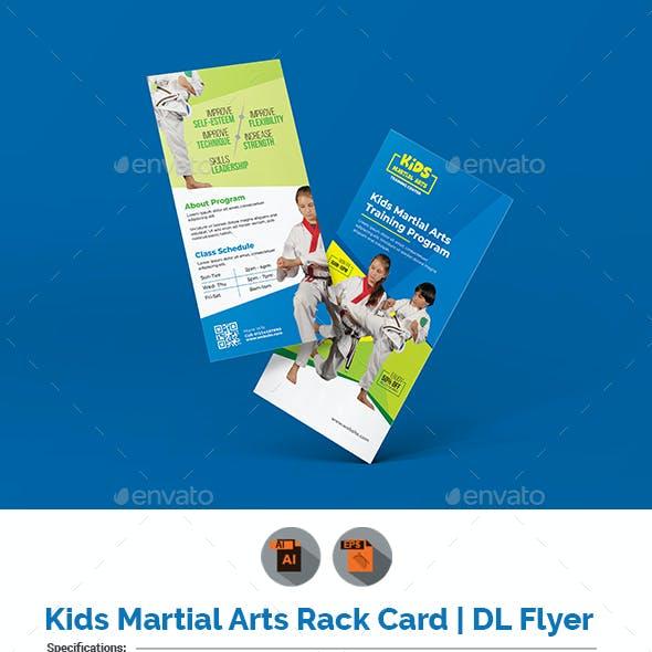 Kids Martial Art Training Rack Card | DL Flyer