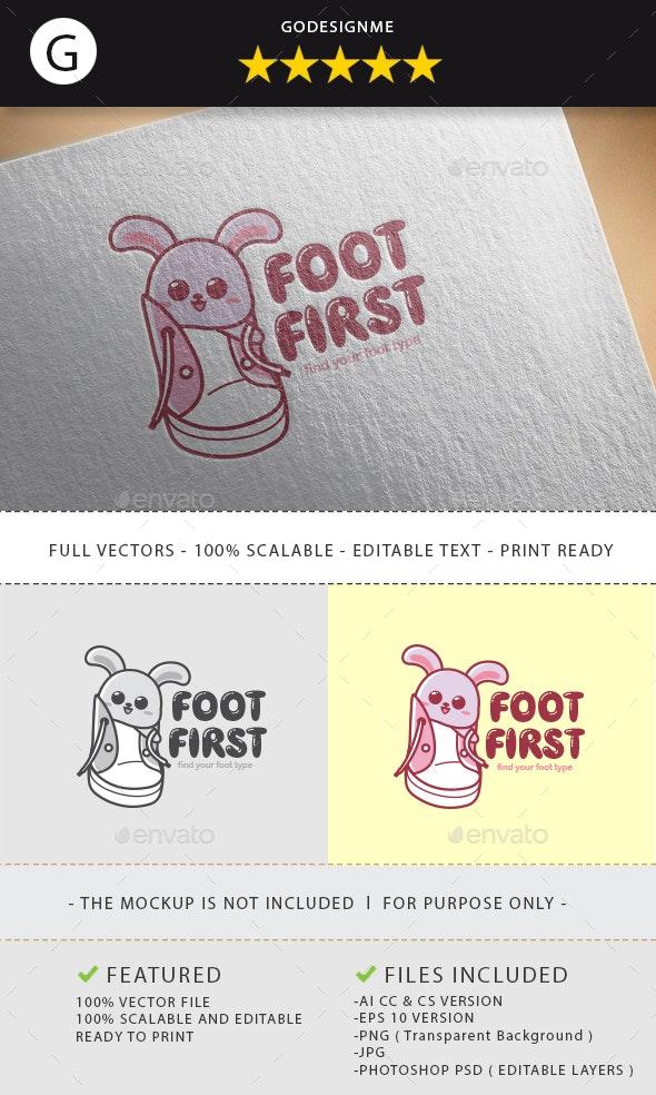 Foot First Logo Design - Vector Abstract