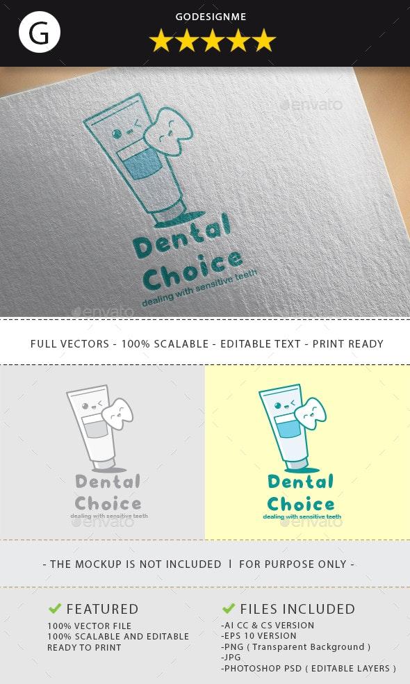 Dental Choice Logo Design - Vector Abstract