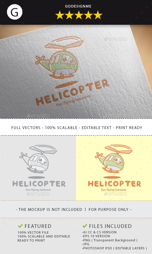 Helicopter Logo Design - Vector Abstract