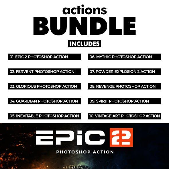 Actions Bundle - 10 Photoshop Actions