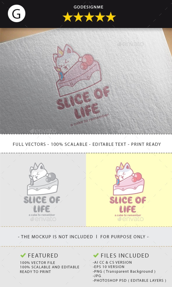 Slice Of Life Logo Design - Vector Abstract