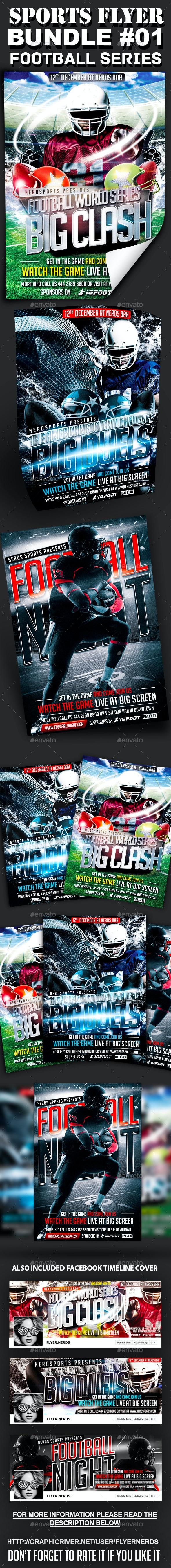 Sports Flyer Bundle 01 Football Series - Sports Events