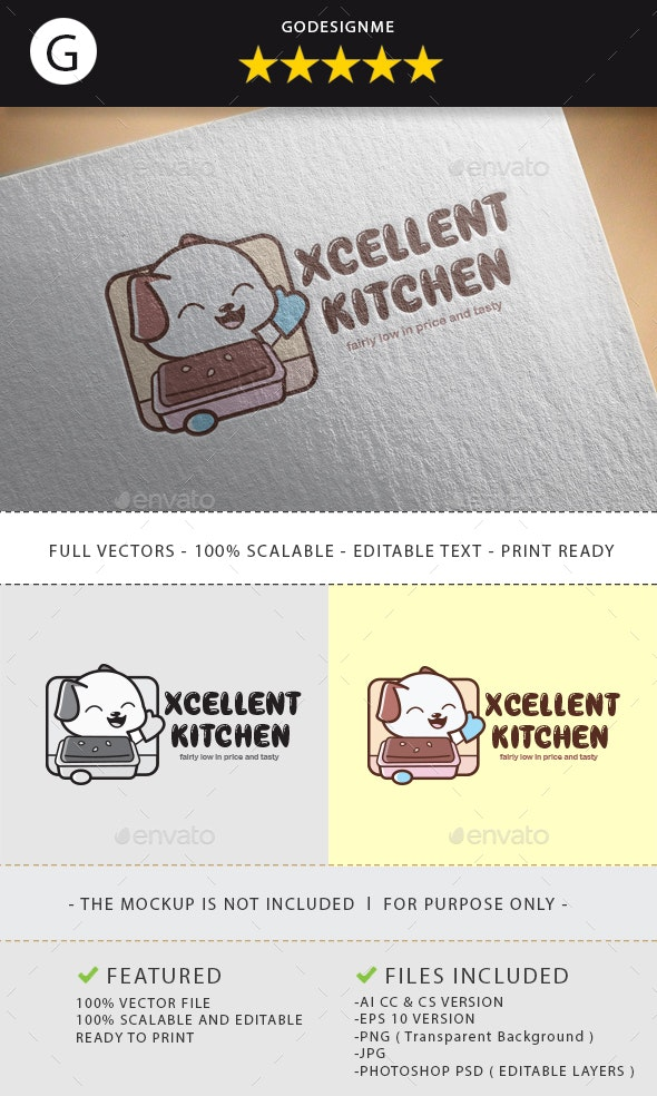 Xcellent Kitchen Logo Design - Vector Abstract