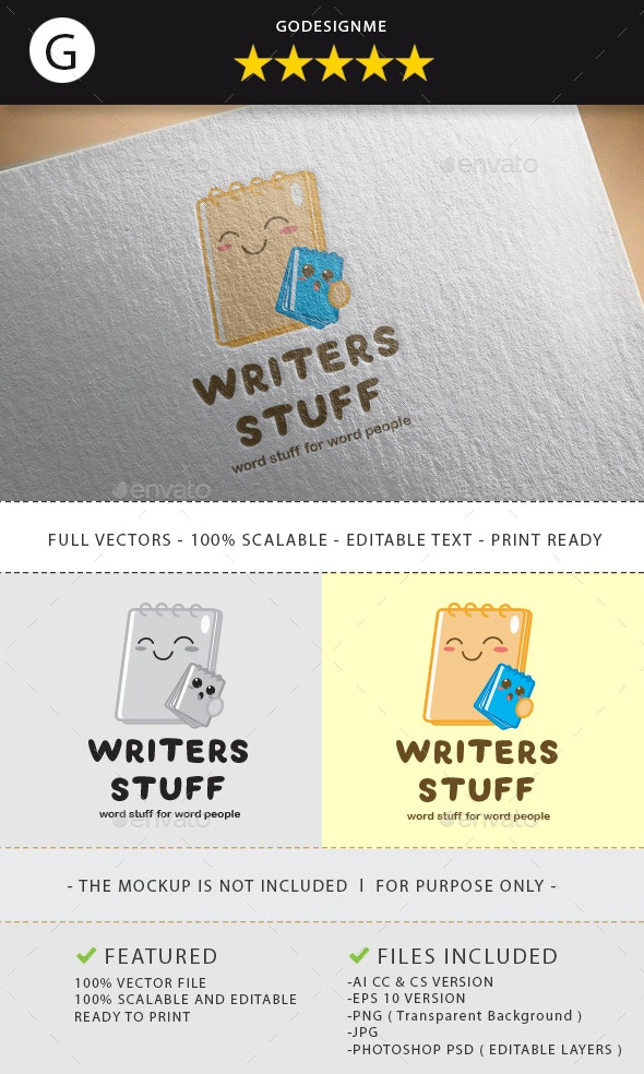 Writers Stuff Logo Design - Vector Abstract