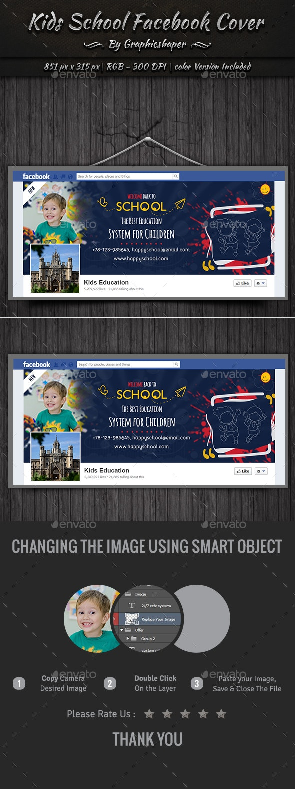 Kids School Facebook Cover - Facebook Timeline Covers Social Media
