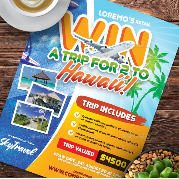 Win A Trip Flyer Templates
