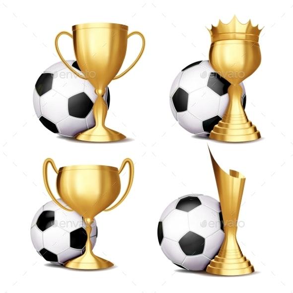 Soccer Game Award Set Vector - Sports/Activity Conceptual