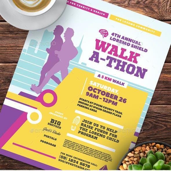 Walkathon Event Flyer Templates