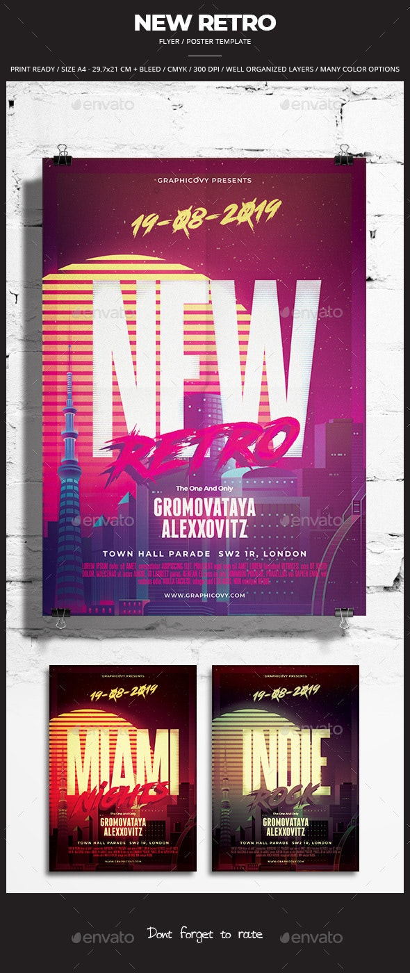 New Retro Flyer / Poster - Events Flyers