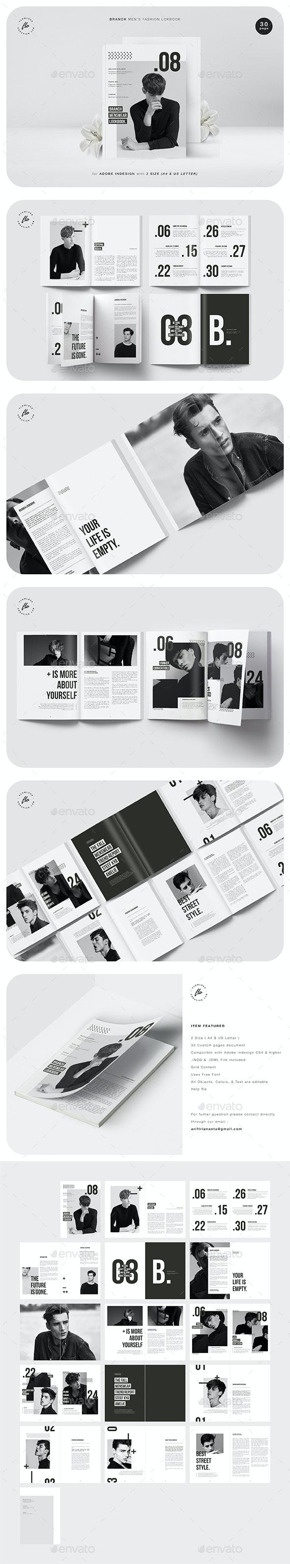 Branch Men's Fashion Lookbook - Magazines Print Templates