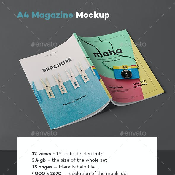 A4 Magazine Mock-up 4