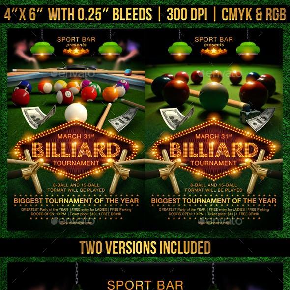 Pool Billiard Flyer Template