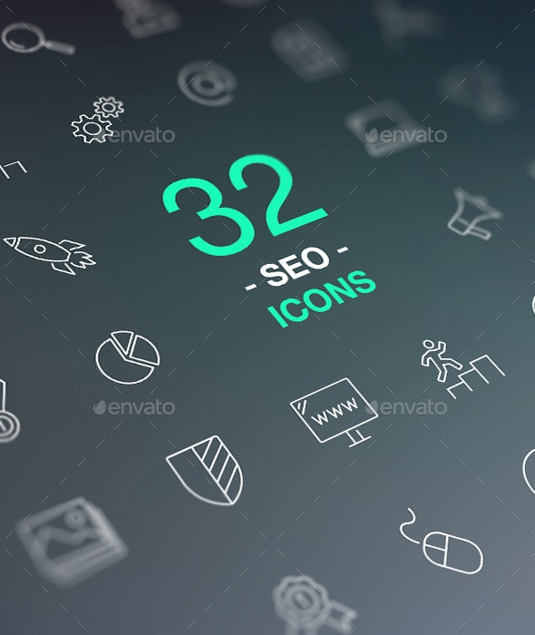 Set of Thin Line Vector Icons. Search Engine Optimization. Web design and Development - Technology Icons