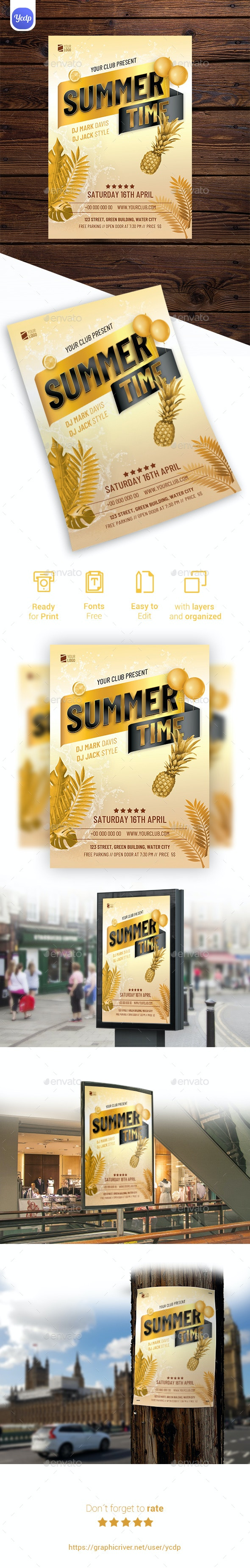 Summer Time Flyer - Events Flyers