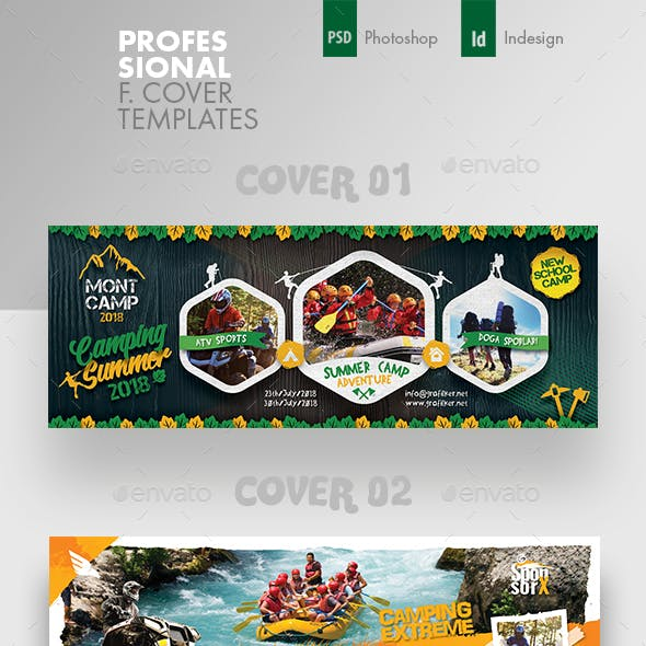 Camping Adventure Cover Bundle Templates
