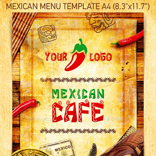 Mexican Menu Template vol.1