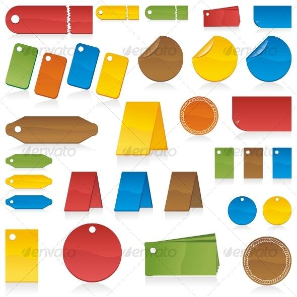 Set of color labels - Decorative Symbols Decorative