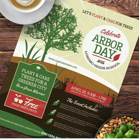 Arbor Day Flyer Templates