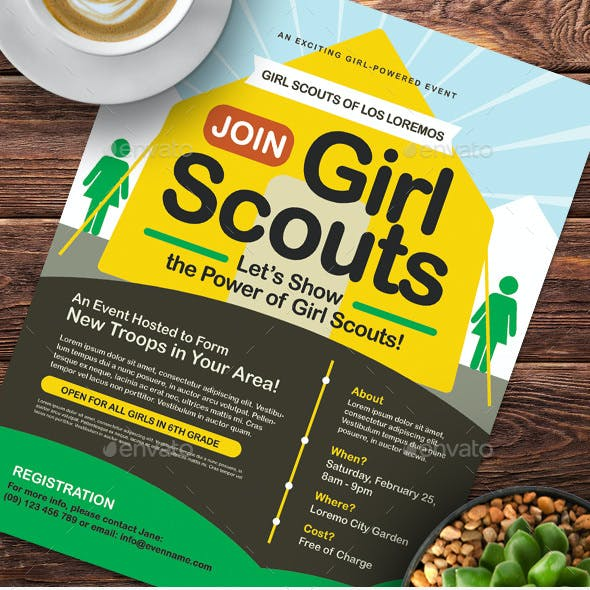 Girl Scout Flyer Templates