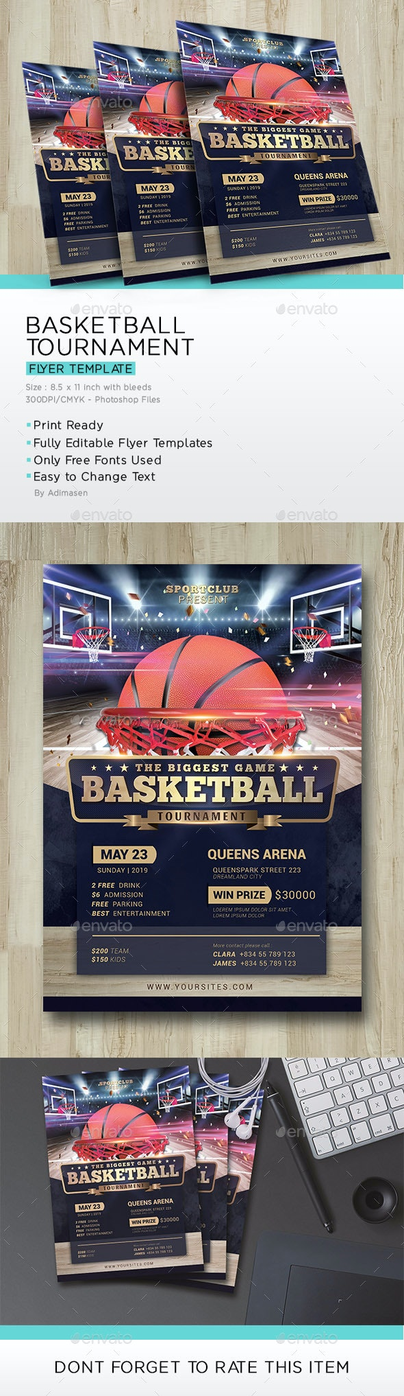 Basketball Tournament Flyer - Sports Events