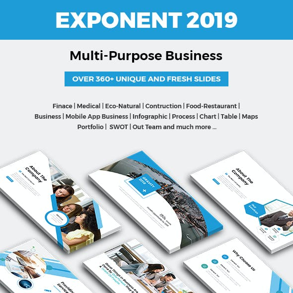 Exponent - Multipurpose Business Powerpoint Template 2019