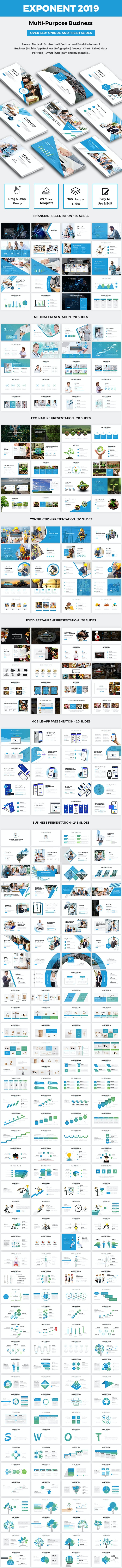 Exponent - Multipurpose Business Powerpoint Template 2019 - PowerPoint Templates Presentation Templates