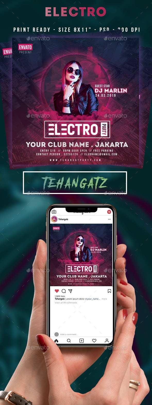 Electro Event Party Flyer - Clubs & Parties Events