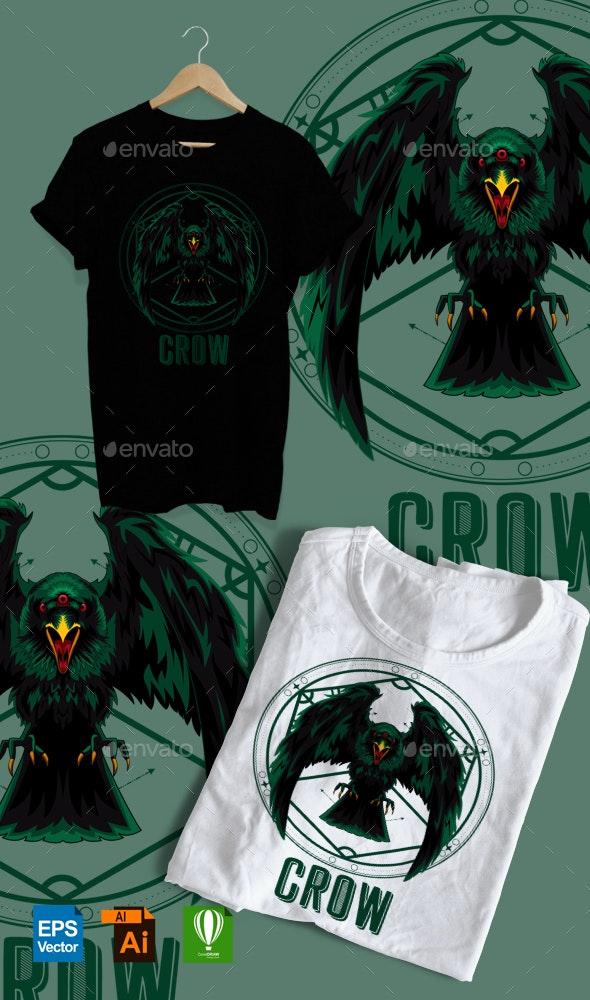 CROW GEOMETRIC DESIGN TSHIRT - T-Shirts