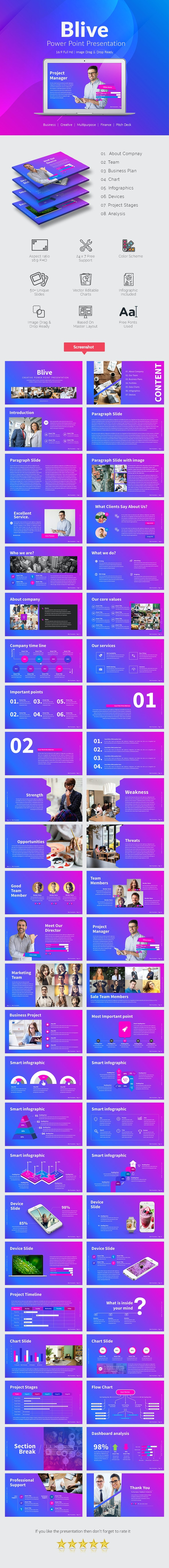 Blive Power Point Presentation Template - Business PowerPoint Templates