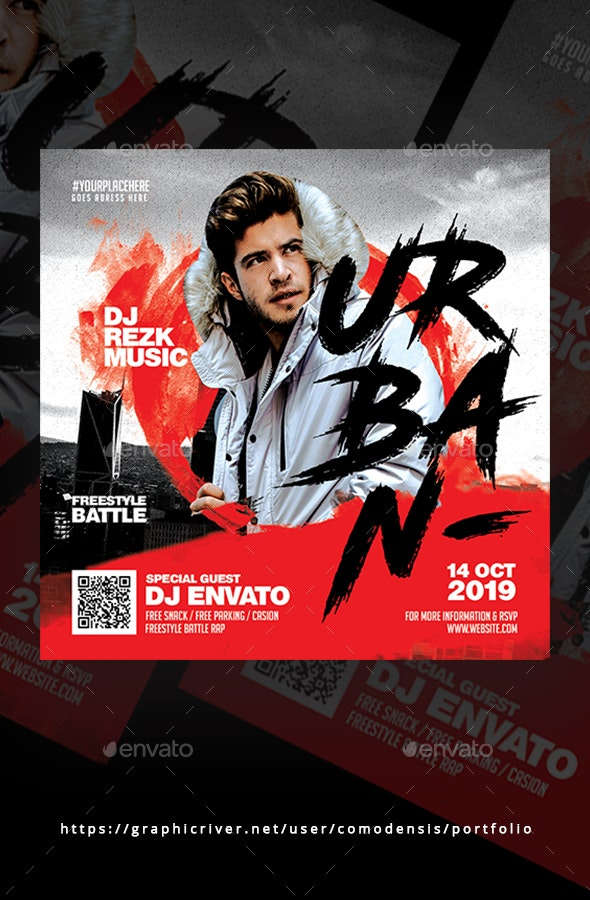Urban Flyer Templates - Clubs & Parties Events