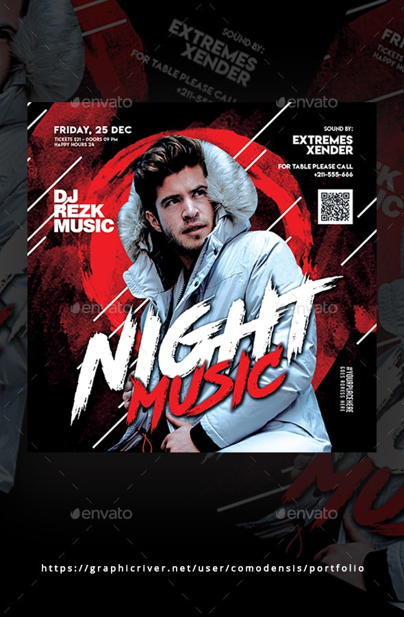 Night Music Flyer Templates - Clubs & Parties Events